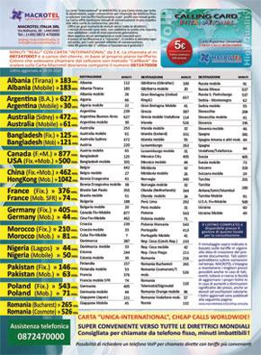 Scarica e stampa la brochure con i minuti